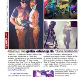 "Maximus Wel graba videoclip de ""Dulce Sustancia"""