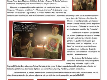 """Montana """"The Producer"""" graba el primer video de su disco:  Sentimiento De Un Artista"""