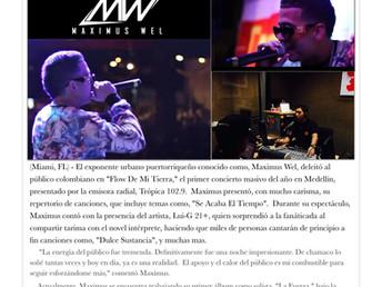 Maximus Wel brilla en Colombia
