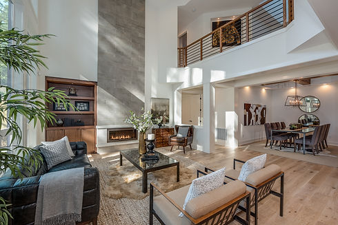 lifestyle photography of modern living room by Seattle based real estate developer Murray Franklyn