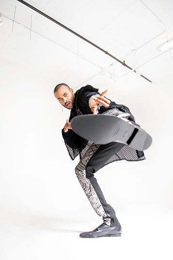 Lifestyle photography of model Don Benjamin in the dpgw marketing agency studio