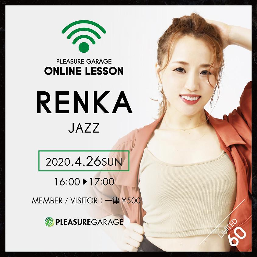 4/26(日) RENKA先生オンラインレッスン/JAZZ