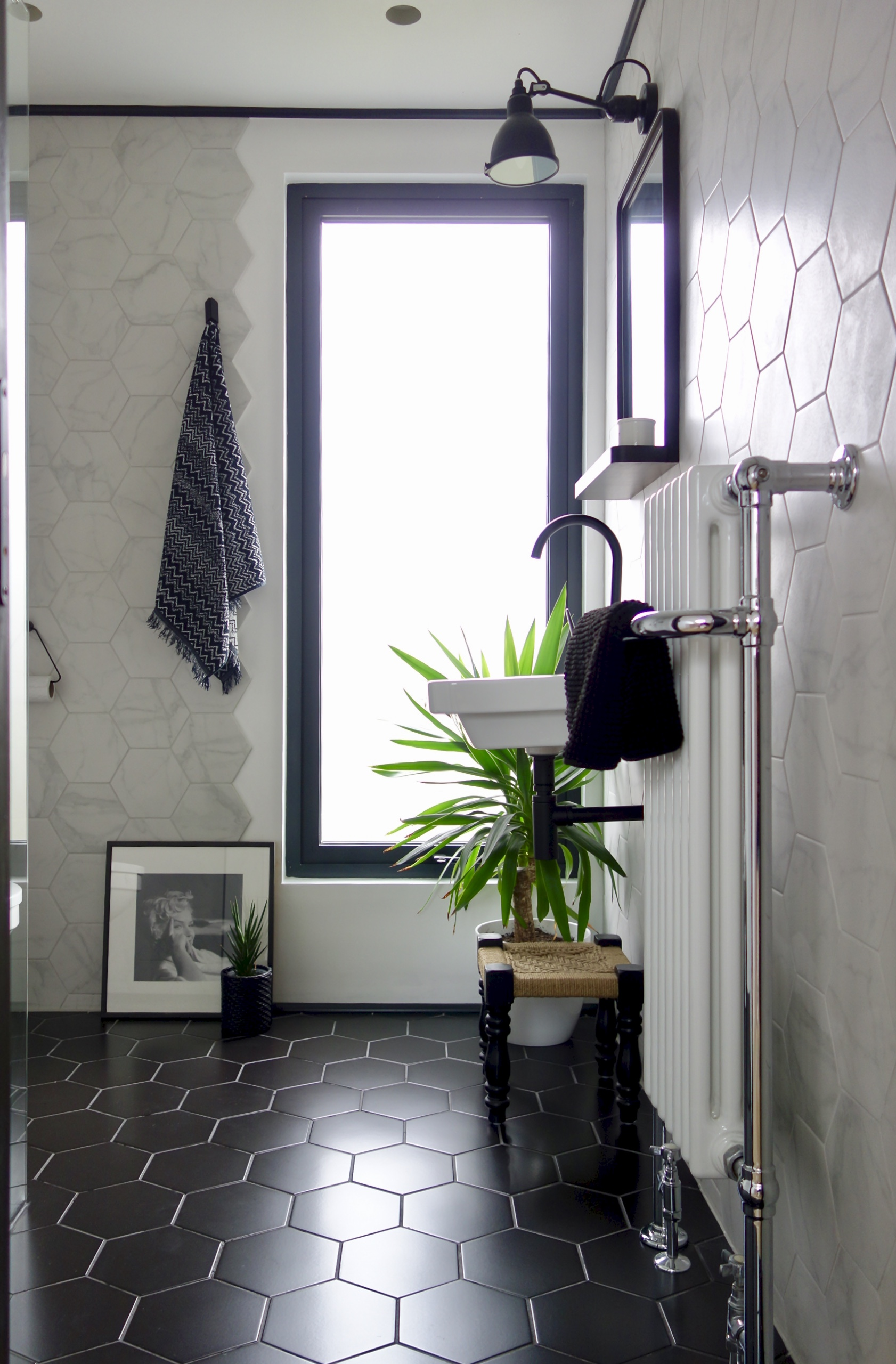 Monochrome Shower Room