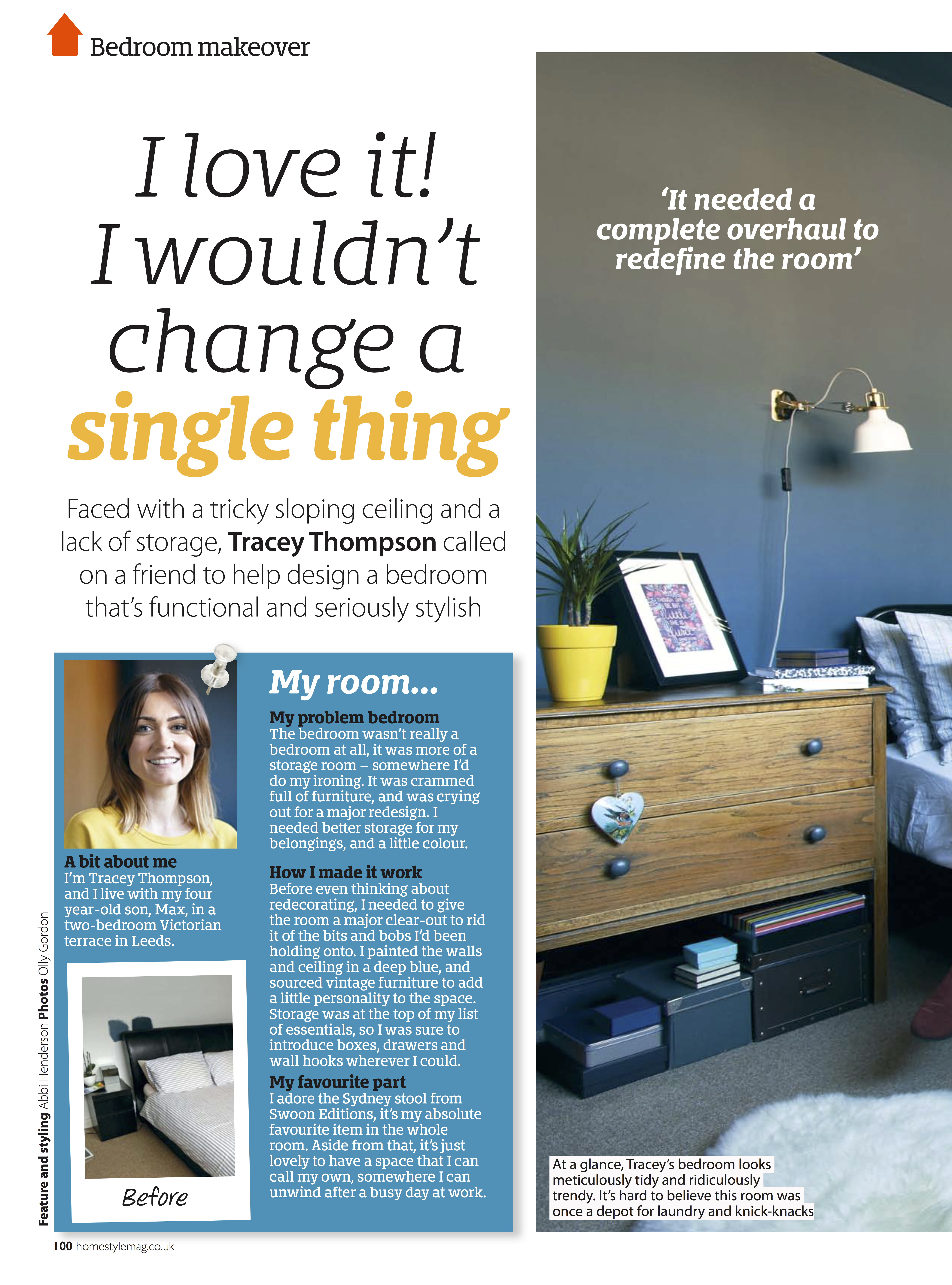 The Blue Bedroom HomeStyle Magazine Making Spaces
