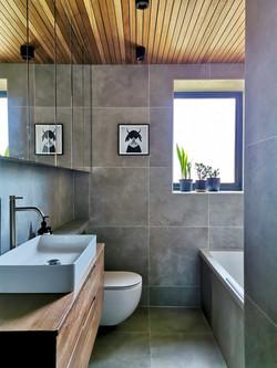 Concrete and Timber Bathroom