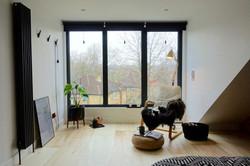 Full height aluminium windows