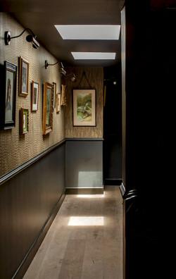 Hallway with Pheasant Wallpaper