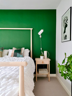 Green Guest Bedroom