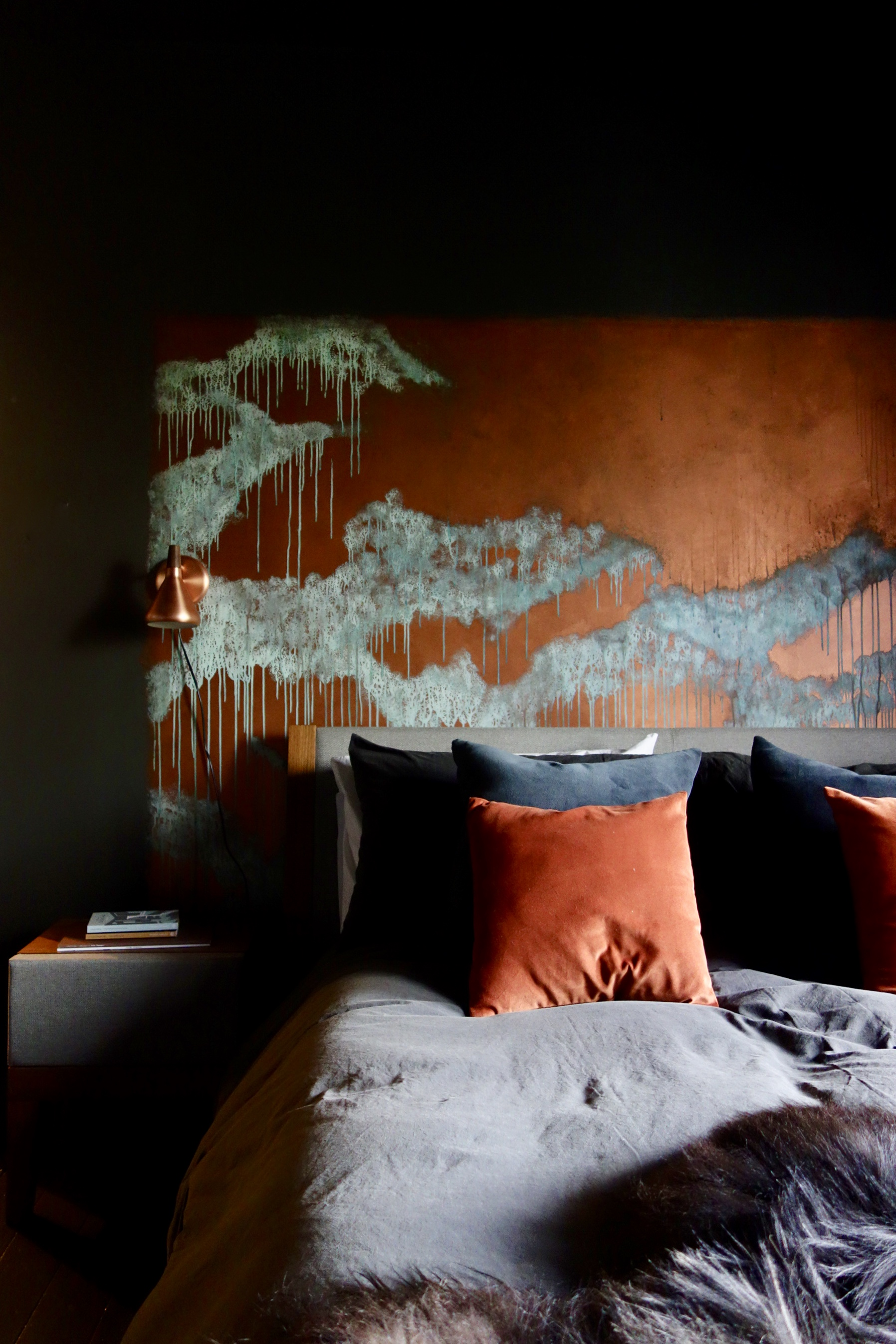 Copper Patina Wall