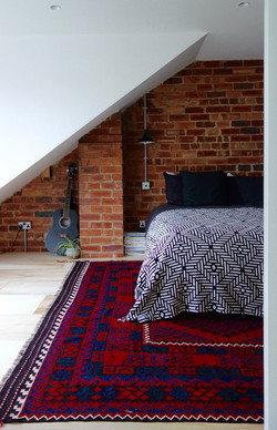 Exposed brick wall loft