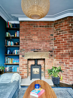 Victorian Terrace with Exposed Brick Wall
