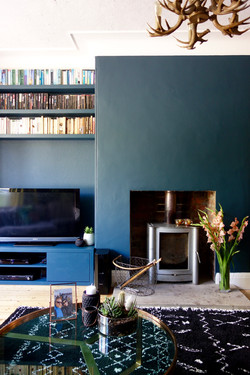 Fireplace and Alcove Storage