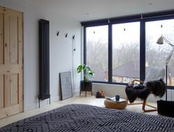 Monochrome loft bedroom