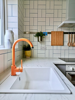 Orange Kitchen Tap