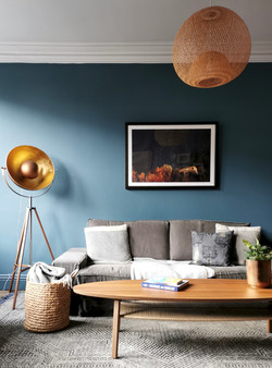 Moody Blue Living Room