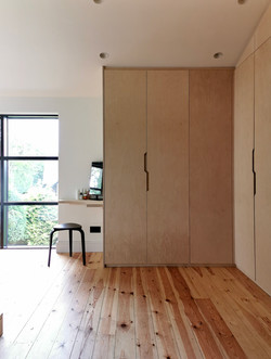 Built in wardrobes and dressing area