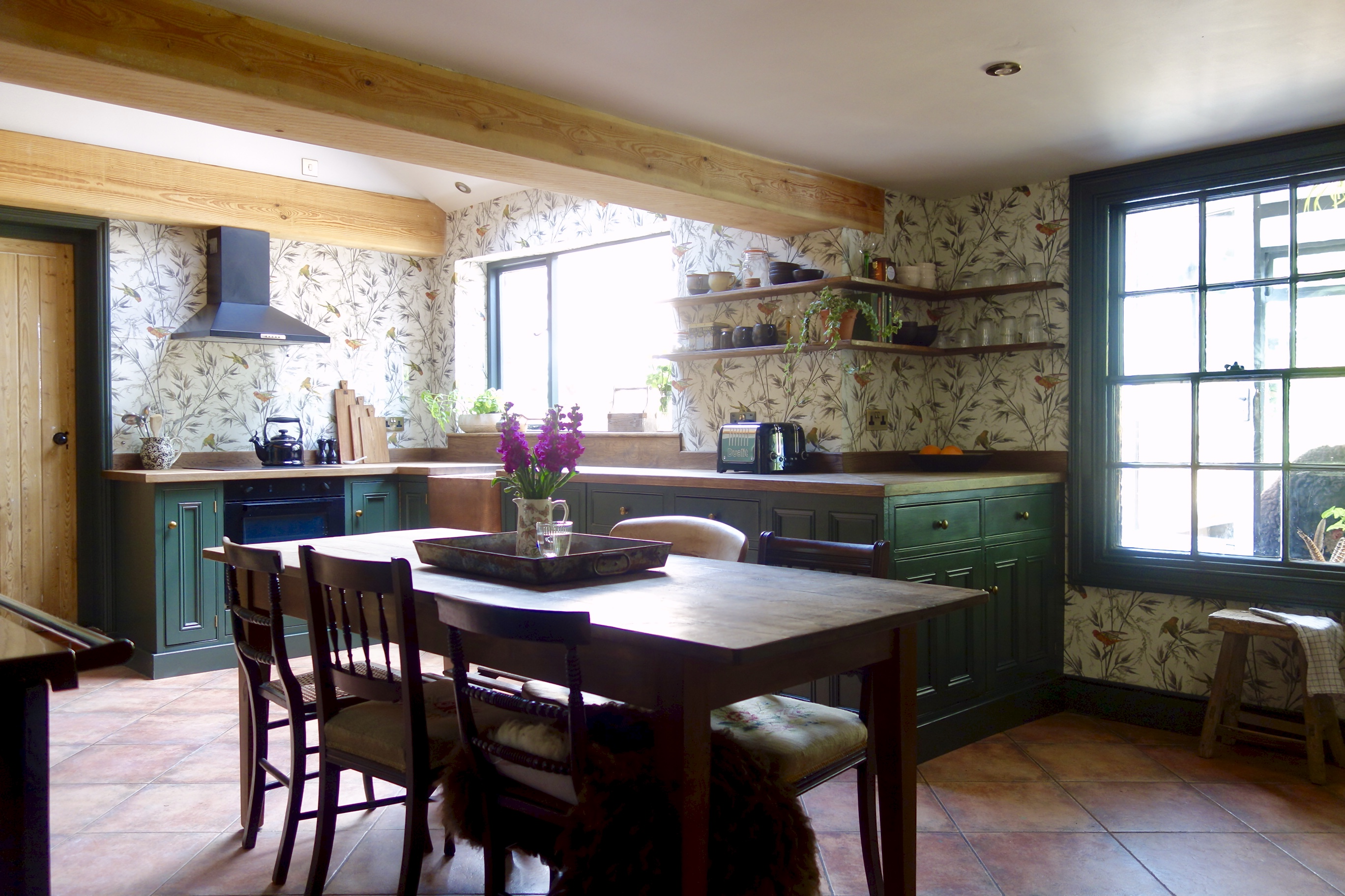 Open plan kitchen dining space