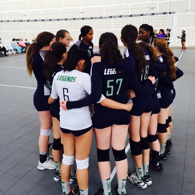 16-2s getting ready for battle! Let's go ladies! #legends #legendsvbc #belegendary