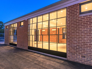 Custom steel windows and doors at Claremont Electric SubStation 1923