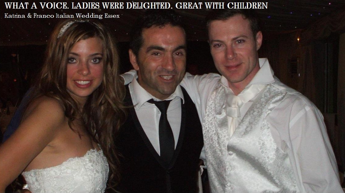 Italian Spanish wedding singers UK