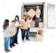 12198249-Family-moving-house-taking-boxe