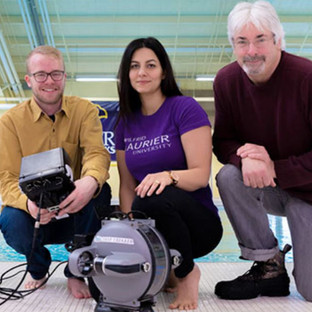 ReSEC team researchers take deep dive into northern lakes with underwater drone