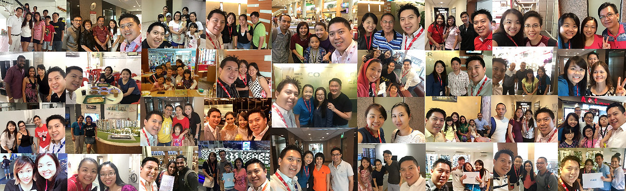 Numerous Photos of SG Property Advisers with their appreciative and very lovely real estate clients.