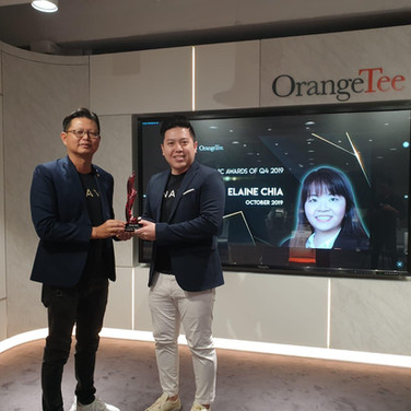 Jeffrey receiving Q4/2019 Supersonic Award.