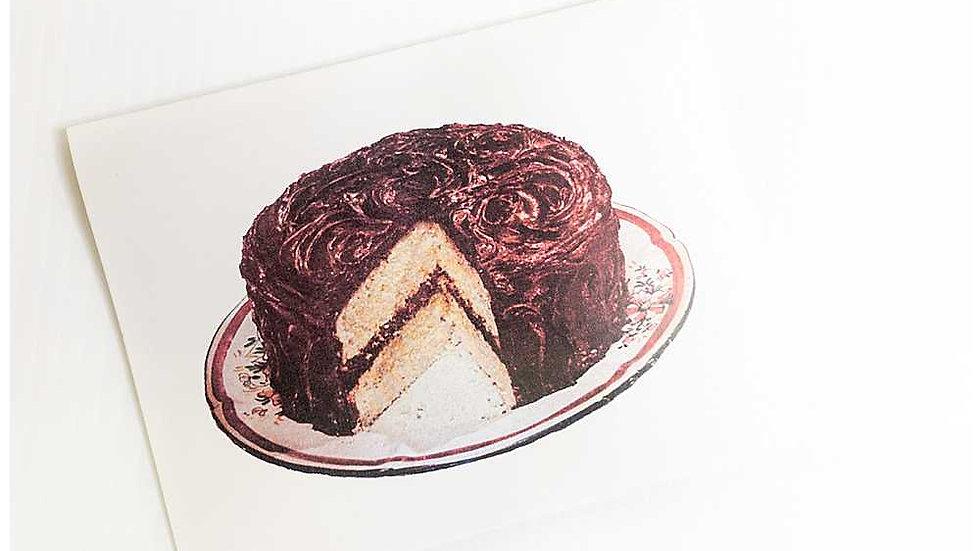 Decadent Chocolate Cake Greeting Card