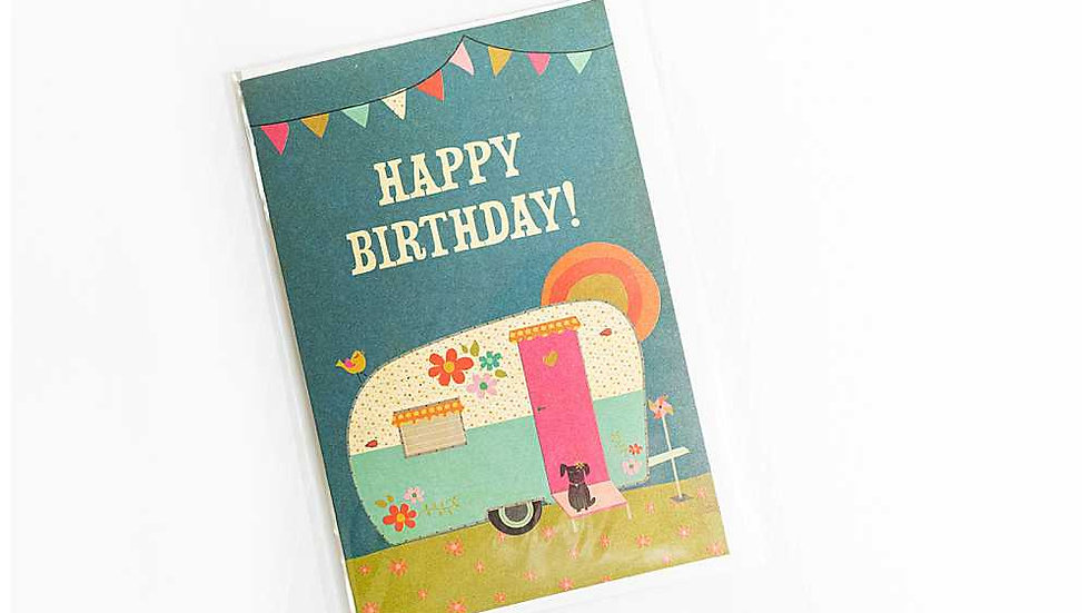 Colorful Camper Birthday Card
