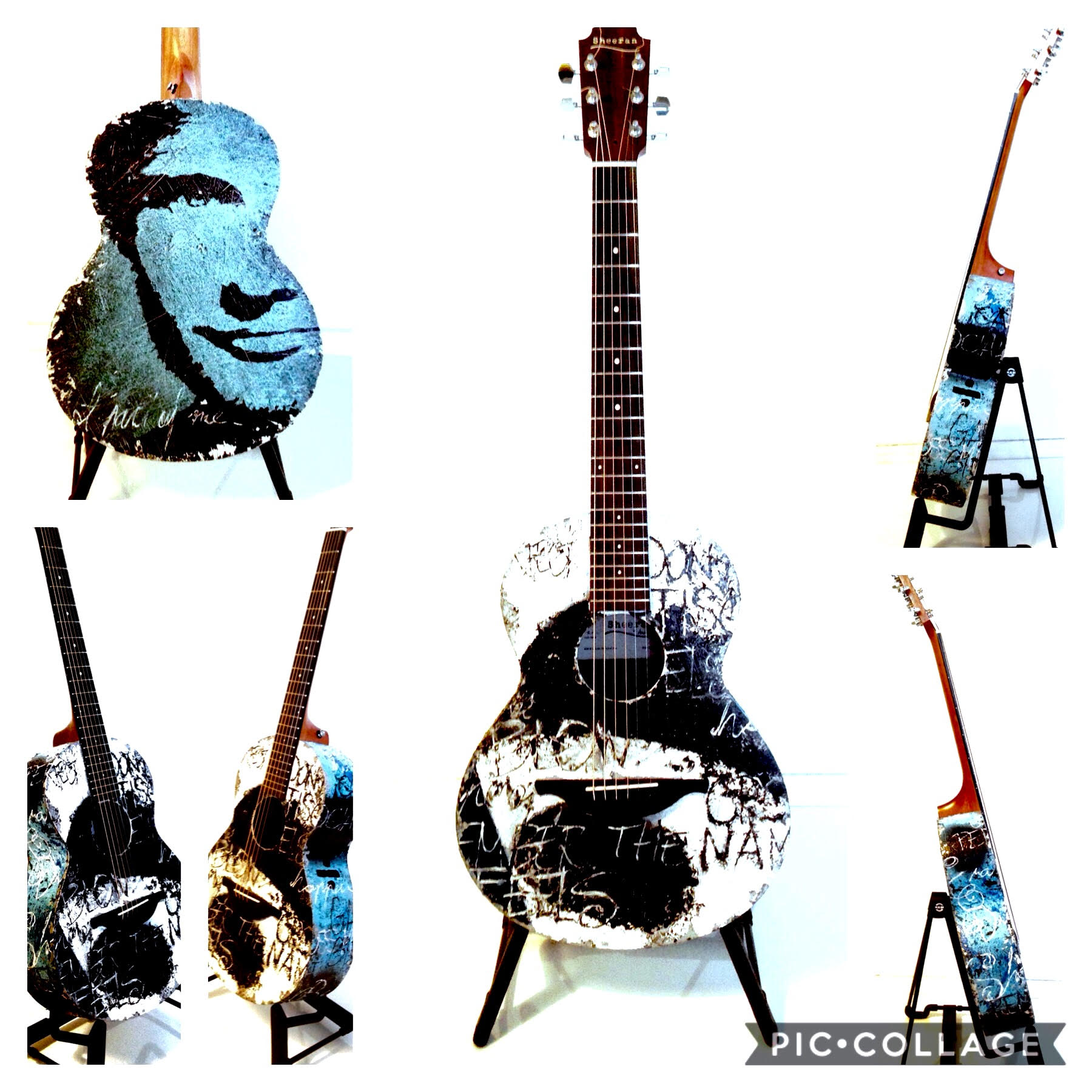 Ed Sheeran guitar art by Salmelainen