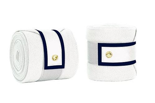 White/Navy Polos