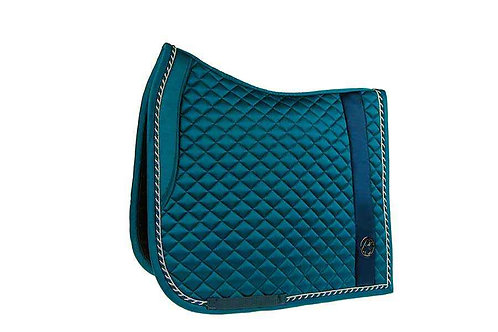 Saddle Pad Stripe Coral Blue Dressage