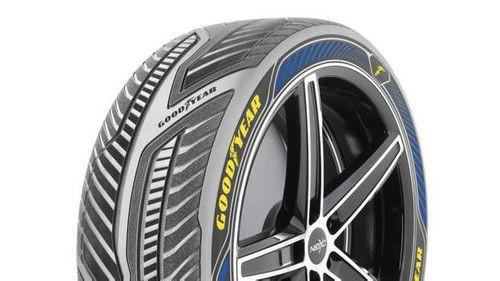 Outro conceito da fabricante é o pneu capaz de 'ler' informações sobre a rota.