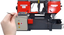 Máquina serra fita horizontal semiautomática SR 400 HVF