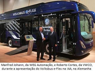 WEG fornecerá powertrain ao microônibus hibrido da VWCO