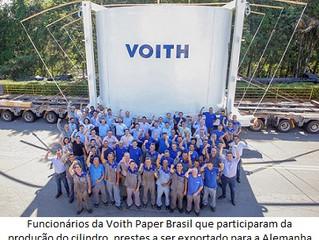 Voith Brasil produz maior cilindro monolúcido do mundo