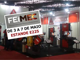 Ronemak levará novidades em serra de fita a FEIMEC 2016