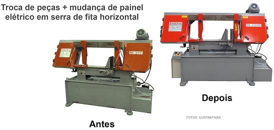 Manutenção de serra fita