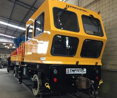 Veículo ferroviário criado pela Empretec