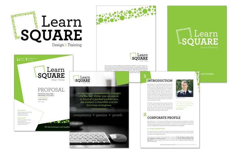Learn Square marketing collateral branding development