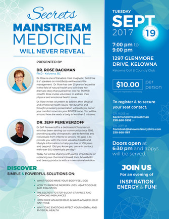 Secrets Mainstream Medicine Flyer
