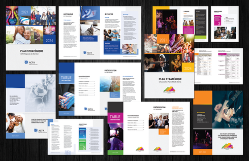 Strategic Plan template design and layout / Design et mise en page gabarit Plan Stratégique