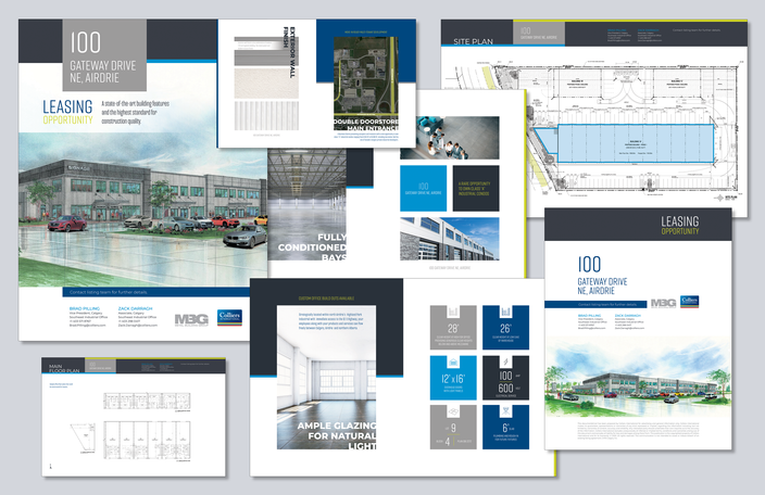 Leasing Custom Brochure Template Design