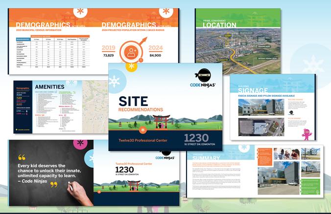 Code Ninjas - Twelve30 Centre Custom Brochure Template Design