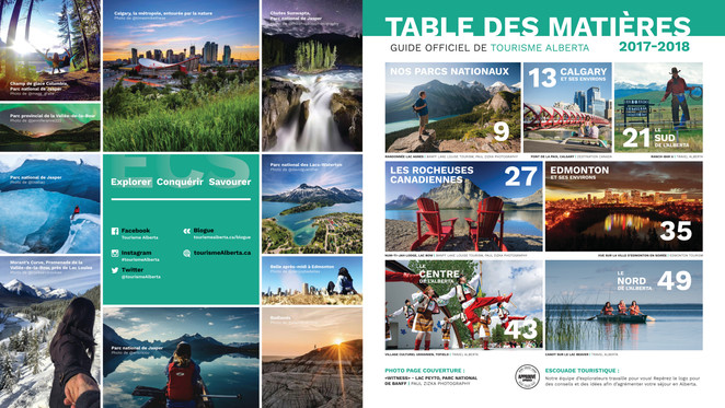 Alberta Official French Tour Guide 2017