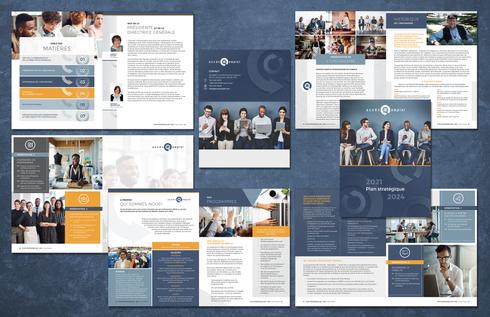 Strategic Plan Design and layout / Design et mise en page Plan Stratégique