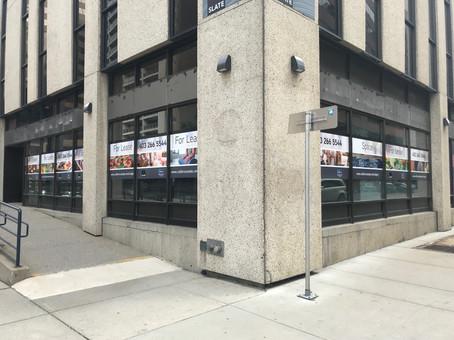 Slate Vinyl Building Signage