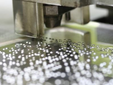 Lastre in alluminio con stampa braille