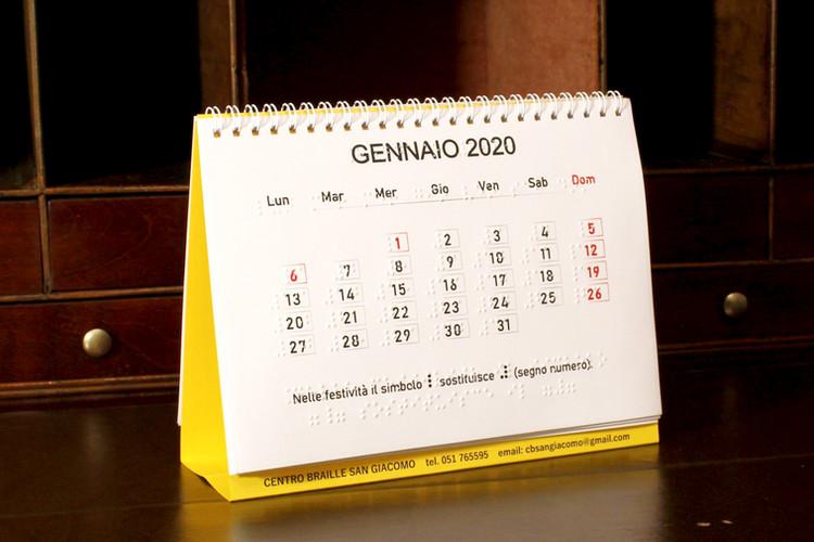 Calendario Braille da tavolo